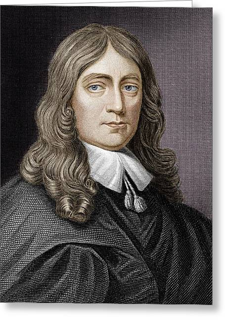 Copernicus Greeting Cards - John Milton (1608-1674) Greeting Card by Science Photo Library