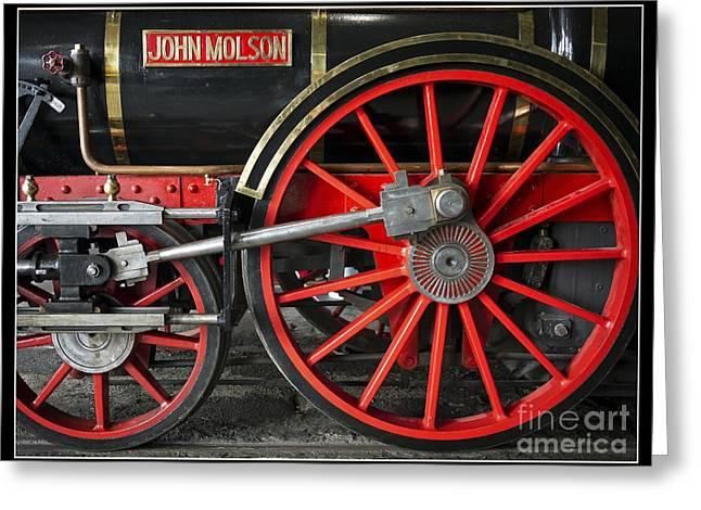 Locomotive Greeting Cards - John Molson Steam Train Locomotive Greeting Card by Edward Fielding