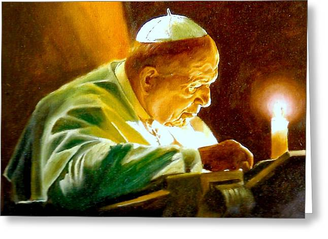 John Paul II Greeting Card by Henryk Gorecki