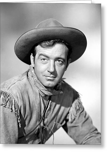 Payne Greeting Cards - John Payne Greeting Card by Silver Screen