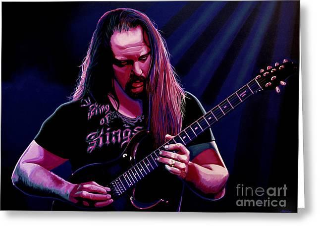 John Petrucci Painting Greeting Card by Paul Meijering