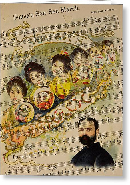 Marching Band Greeting Cards - John Philip Sousa 2 Greeting Card by Andrew Fare