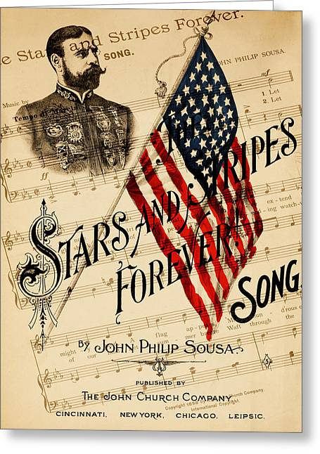 Marching Band Greeting Cards - John Philip Sousa 1 Greeting Card by Andrew Fare