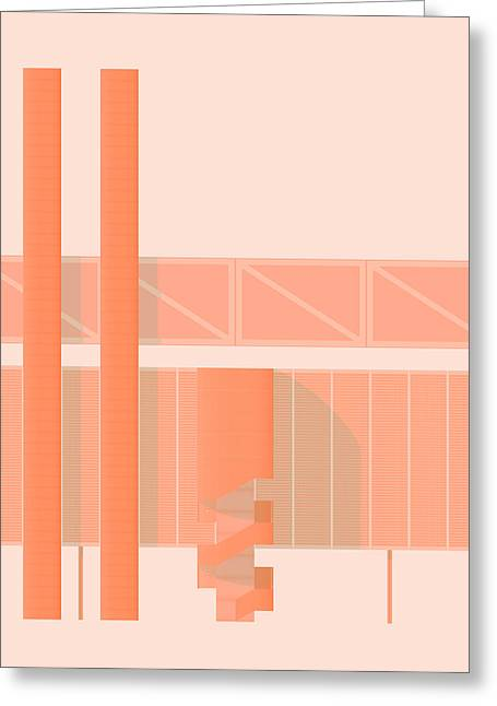 Brutalism Greeting Cards - John Player Factory Greeting Card by Peter Cassidy