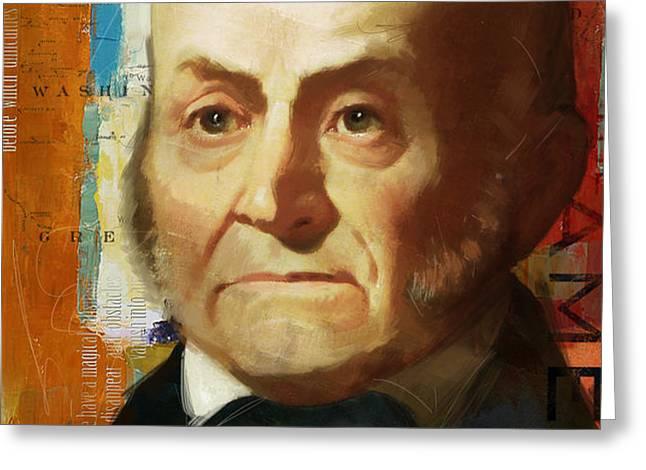 John Quincy Adams Greeting Card by Corporate Art Task Force