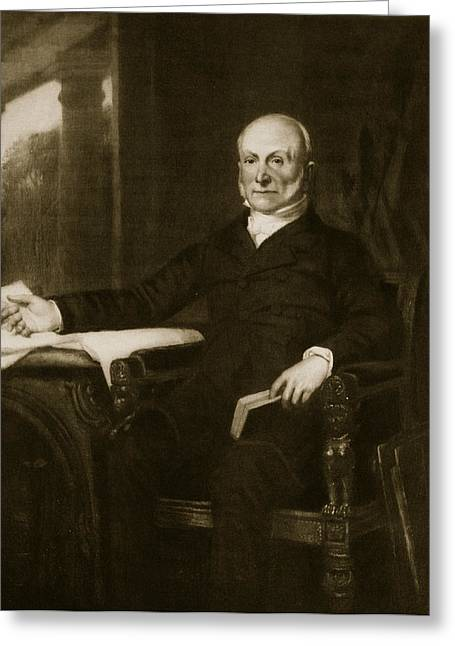 President Adams Greeting Cards - John Quincy Adams Greeting Card by George Healy