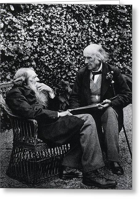John Ruskin And Henry Acland Greeting Card by National Library Of Medicine
