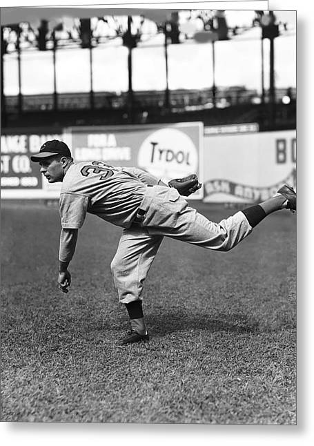 All Star Game Photographs Greeting Cards - John S. Johnny Vander Meer Greeting Card by Retro Images Archive
