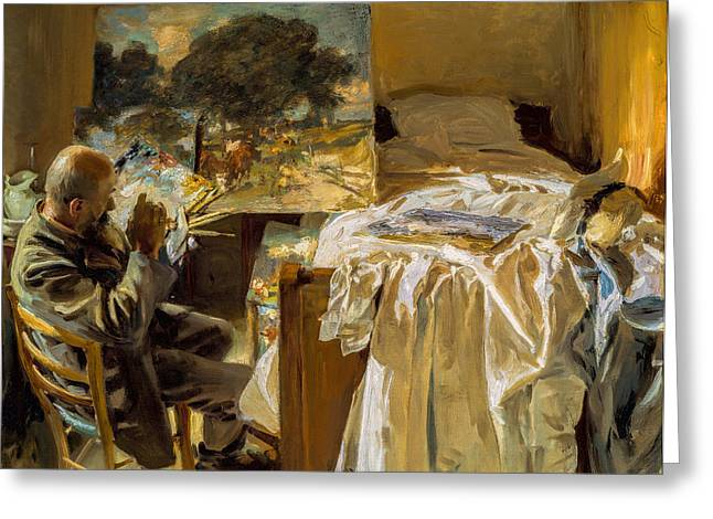 Bedroom Wall Art Greeting Cards - John Singer Sargent - An Artist in his Studio Greeting Card by John Singer Sargent