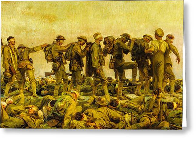 Wwi Greeting Cards - John Singer Sargent - Gassed Greeting Card by John Singer Sargent