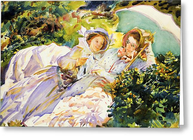 Buy Art Online Greeting Cards - John Singer Sargent - Simplon Pass The Tease Greeting Card by John Singer Sargent