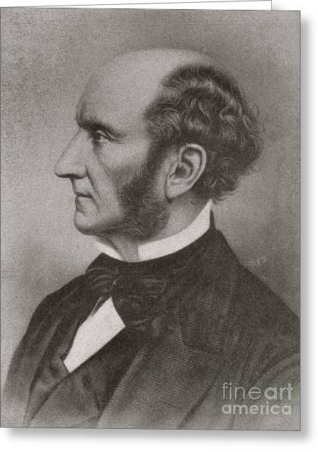Reform Greeting Cards - John Stuart Mill, British Reformer Greeting Card by British Library