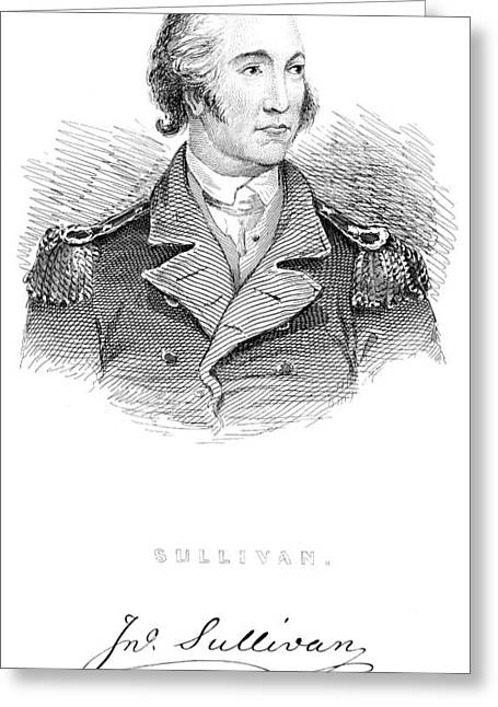 Lapel Greeting Cards - John Sullivan (1740-1795) Greeting Card by Granger