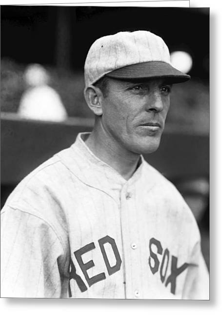 Boston Red Sox Greeting Cards - John T. Jack Tobin Greeting Card by Retro Images Archive