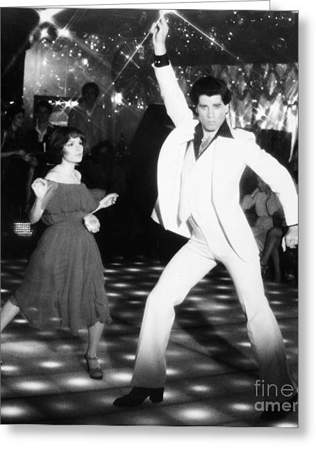 Interior Scene Photographs Greeting Cards - John Travolta (1954- ) Greeting Card by Granger