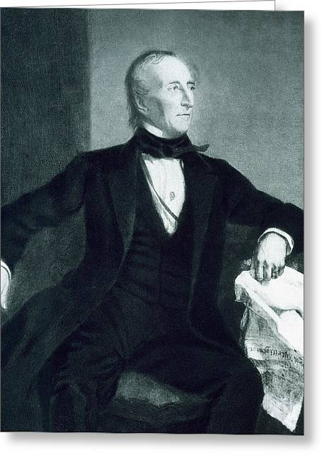 Presidential Portrait Greeting Cards - John Tyler Greeting Card by George Healy
