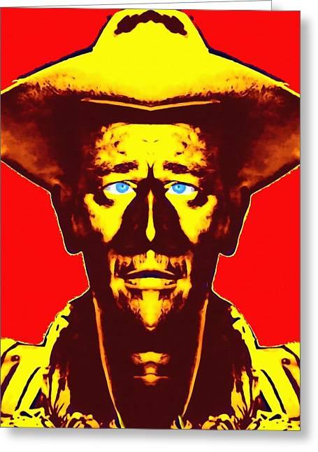 Uniforms Mixed Media Greeting Cards - John Wayne alias in Fort Apache Greeting Card by Art Cinema Gallery