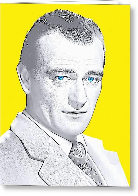 John Wayne Greeting Card by Art Cinema Gallery