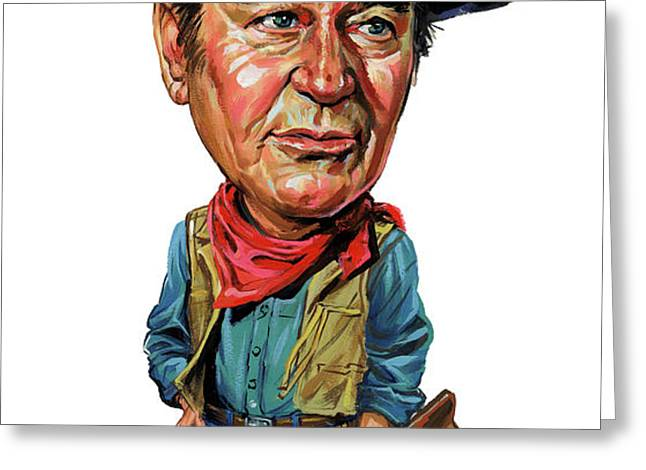 John Wayne Greeting Card by Art