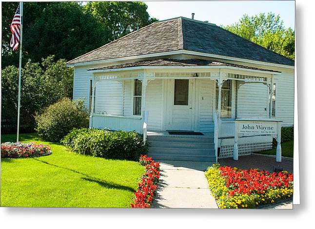 Geobob Greeting Cards - John Wayne Birthplace Home in Winterset Madison County Iowa Greeting Card by Robert Ford