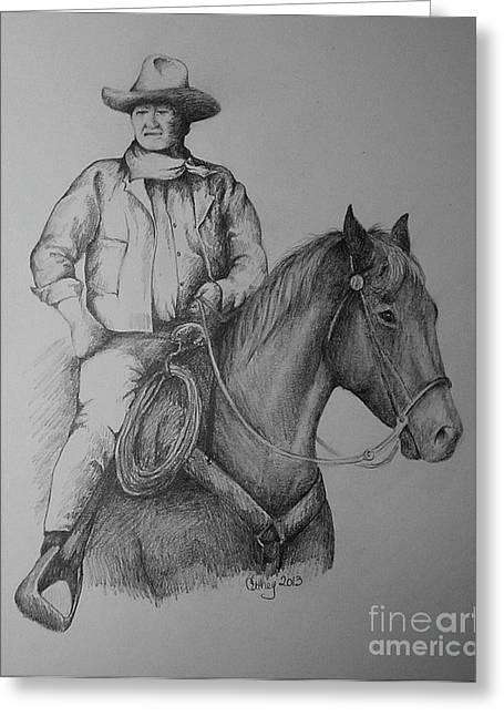 John Wayne Greeting Card by Catherine Howley