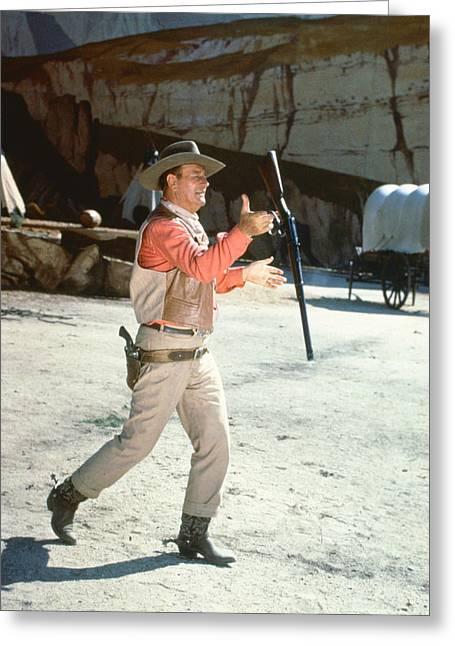 El Dorado Greeting Cards - John Wayne in El Dorado  Greeting Card by Silver Screen