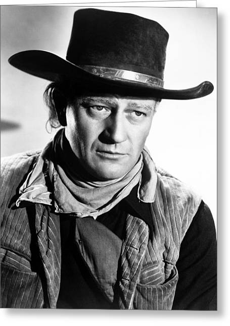 John Wayne In Red River  Greeting Card by Silver Screen