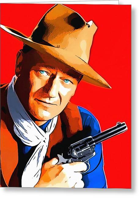 1959 Movies Greeting Cards - John Wayne in Rio Bravo Greeting Card by Art Cinema Gallery