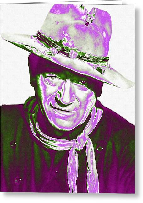 First Plane Greeting Cards - John Wayne in The Man Who Shot Liberty Valance Greeting Card by Art Cinema Gallery