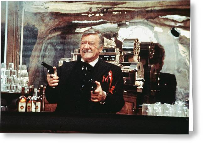 Shootist Greeting Cards - John Wayne in The Shootist Greeting Card by Silver Screen
