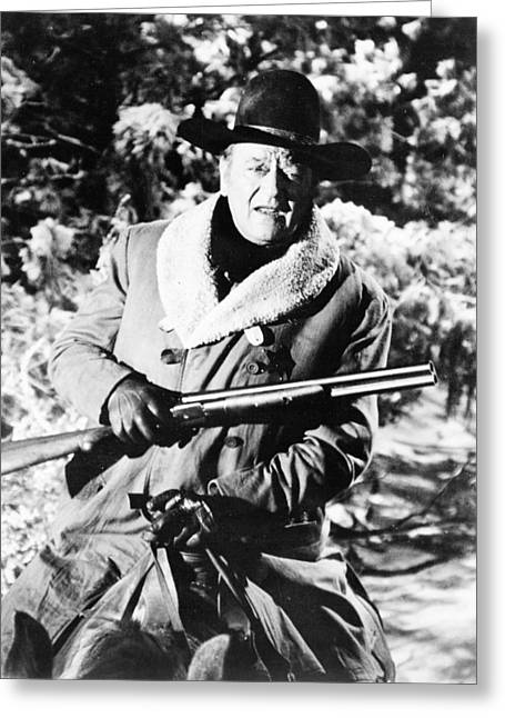 Robber Greeting Cards - John Wayne in The Train Robbers  Greeting Card by Silver Screen