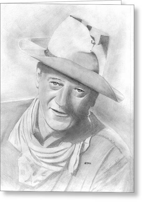 John Wayne Greeting Card by Pat Moore