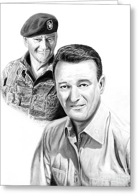John Wayne Greeting Card by Peter Piatt