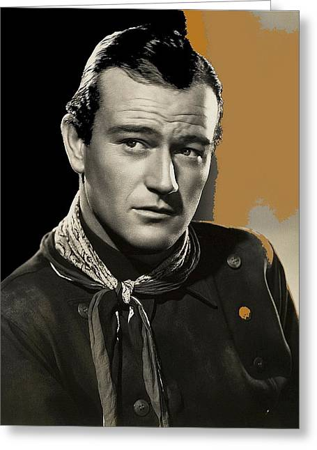 James Cagney Photographs Greeting Cards - John Wayne  publicity photo in costume Stagecoach 1939 Greeting Card by David Lee Guss