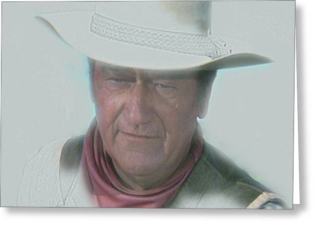 John Wayne Greeting Card by Randy Follis