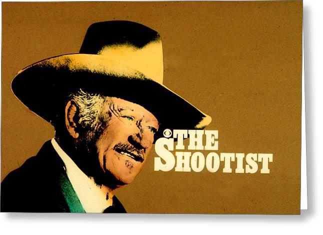 Shootist Greeting Cards - John Wayne The Shootist Greeting Card by John Dunn