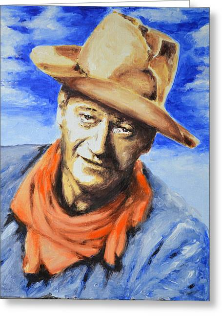 John Wayne Greeting Card by Victor Minca