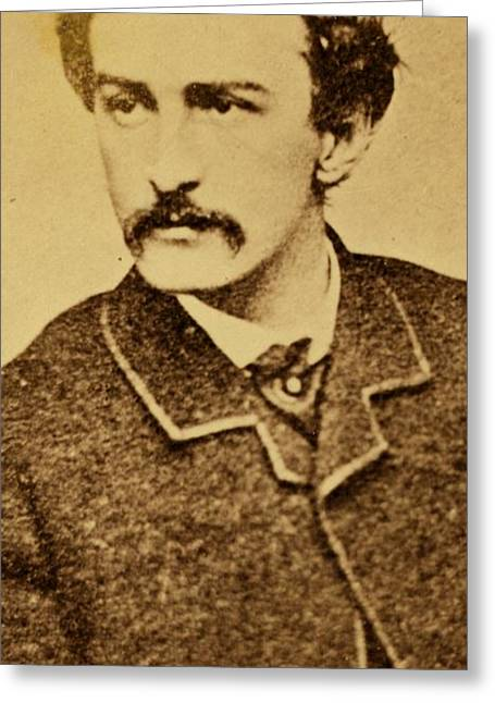 Assassination Greeting Cards - John Wilkes Booth Greeting Card by Anonymous