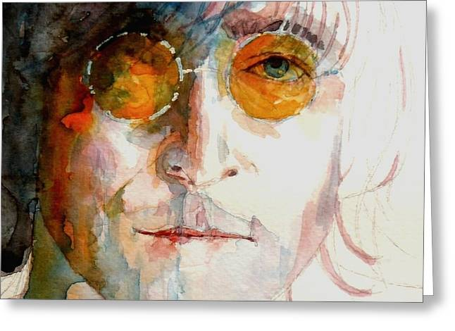 Google Greeting Cards - John Winston Lennon Greeting Card by Paul Lovering