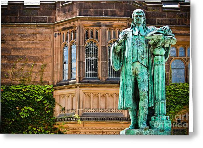Historic Statue Greeting Cards - John Witherspoon - Statue Greeting Card by Colleen Kammerer