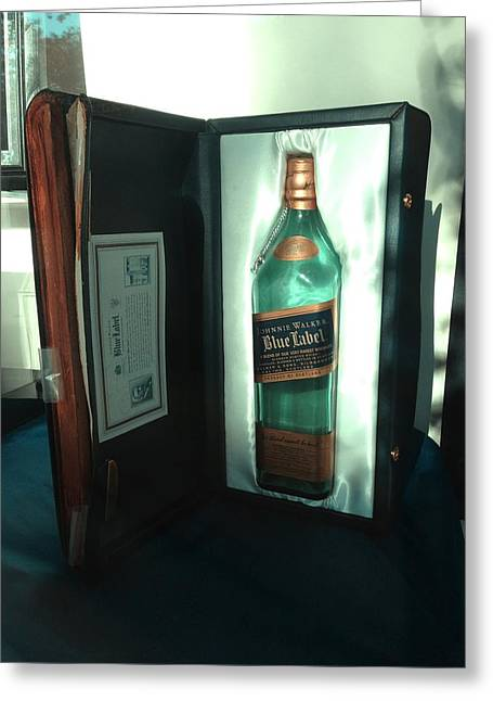 Label Greeting Cards - Johnnie Walker - Blue Label Greeting Card by Richard Reeve
