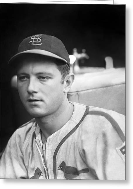 Baseball Uniform Greeting Cards - Johnny Beazley Greeting Card by Retro Images Archive