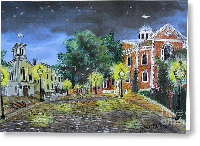 Bedford Hills Greeting Cards - Johnny Cake Hill New Bedord MA Greeting Card by Carol Veiga