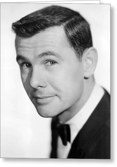 Johnny Carson Greeting Card by Silver Screen