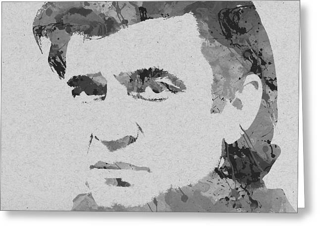 Nashville Songwriters Hall Of Fame Greeting Cards - Johnny Cash Greeting Card by Chris Smith