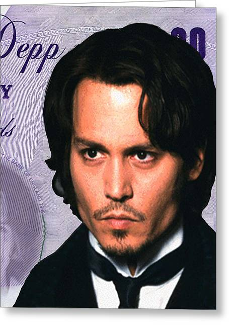 Captain Sparrow Greeting Cards - Johnny Deep Greeting Card by Unknown
