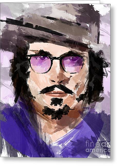 Johnny Depp Poster Greeting Cards - Johnny Depp Greeting Card by Ahmad Alyaseer