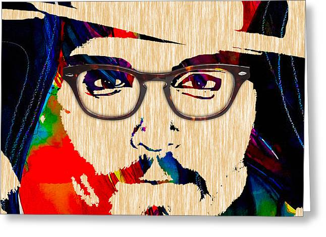 Depp Greeting Cards - Johnny Depp Collection Greeting Card by Marvin Blaine