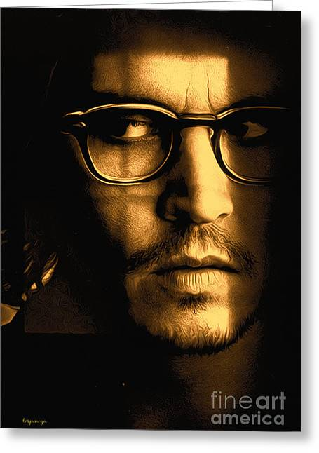 Captain Jack Sparrow Art Greeting Cards - Johnny Depp Greeting Card by Larry Espinoza