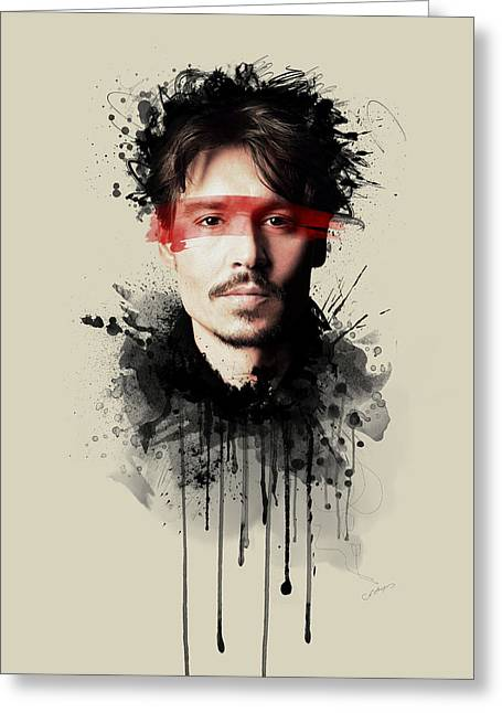 Johnny Depp Poster Greeting Cards - Johnny Depp Greeting Card by Movie Prints